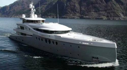 The 60-metre mega yacht called 'Event' from Dutch boat designer Amels, which Hui bought in 2015